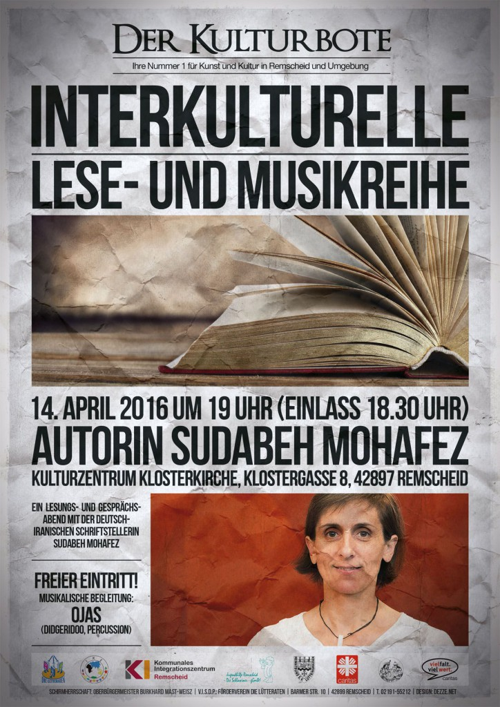 Ein Lesungs- und Gesprächsabend mit der deutsch-iranischen Schriftstellerin Sudabeh Mohafez