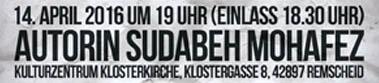 Interkulturelle Lese- und Musikreihe: Sudabeh Mohafez in der Klosterkirche